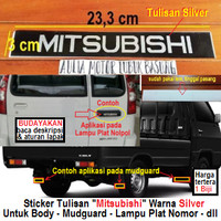 sticker stiker mitsubishi untuk lampu plat nomor l300 colt t120ss kuda