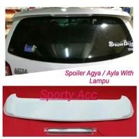 Spoiler Agya Ayla with Lamp Plastik