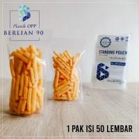 PLASTIK STANDING POUCH 14X22 CM / PLASTIK KLIP BERDIRI ISI 50