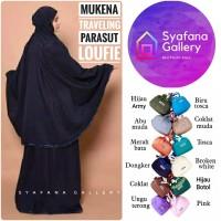 Mukena Travel Dewasa Parasut Loufie Traveling Jumbo Murah Cantik