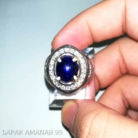 Cincin Batu Permata Natural Blue Sapphire - Natural Blue Safir Asli
