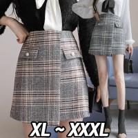 (#8871 XL/XXL/XXXL)Sohee Skirt/Rok Autumn/Rok Winter
