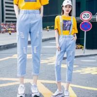 (#6800)Kara Overall Denim Pants/Celana Panjang/Celana Jeans