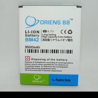 BATERAI BATRE BATTERY DOUBLE POWER XIAOMI REDMI NOTE/BM42
