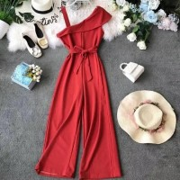 Jumpsuit type qlamour Red