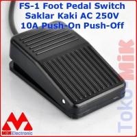 FS-1 FS1 Foot Pedal Switch Saklar Injak Kaki 250V 10A Push-on Push-off