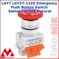LAY7 LAY37-11ZS Emergency Push Button Switch Saklar ON-OFF Darurat