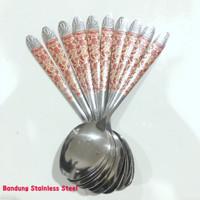 murah 12 pcs sendok Batik stainless steel / Sendok Tipis sendok makan