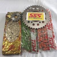 gear sss 428 motor CB 150 tersedia juga motor lain rantai warna ses