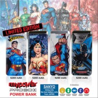 Powerbank Sanyo Probox Justice League 5200mAh (DC Comic Edition)