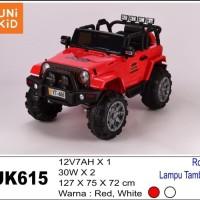 Mobil Aki Mainan Anak Jeep Unikid UK615 bisa rocking + lampu tambahan