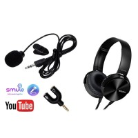 TC-Paket Youtuber Vloger Lengkap 8 Mic Clip On Headphone Sony Aux