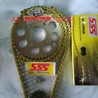 Gear set sss 428 Rantai gold sss original cb150r cbr150r tiger mega