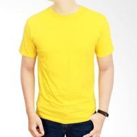 Kuning Lemon Kaos Polos Custom Combed 30s Distro Baju Sablon Indonesia