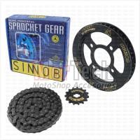 Sinnob Gir Gear Set dan Rantai Motor Colour Chain CB150R New Hitam