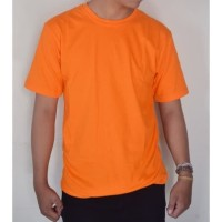 2xl Xxl Oren Orange Kaos Polos Custom Combed 30s Distro Baju Sablon