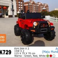 Mainan Mobil Aki Anak Jeep Rubicon Unikid UK 729
