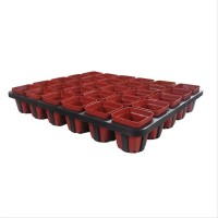 Jirifarm 12305 Tray Set Tatakan termasuk 30 Pot Plastik GPS70 7x7x7