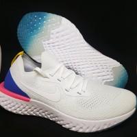 Sepatu Running.Gym Nike Epic React White Blue Pink Murah