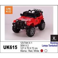Mobil Aki Anak Unikid Jeep UK615 Bisa Rocking + Lampu Tambahan