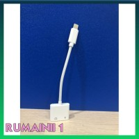 Terbaru Dual Connector Iphone 7 8 X Lightning And Jack 35Mm