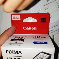 Catridge Canon 745s 745 small black original baru dus segel