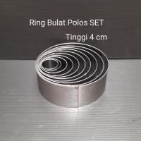 RING BULAT CETAKAN KUE POLOS SET RING CUTTER CAKE STAINLESS RINGBLTST