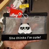 Miniso We Bare Bears Cute Panda Panpan Tempat Pensil Pulpen