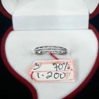 Cc264M118M cincin emas keroncong batik emas putih asli white gold NEW