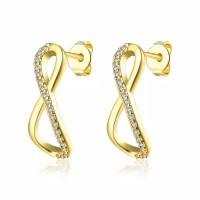 Tiaria Gold Plated Earing Hooks Fashion AKE126-A Anting Lapis Emas