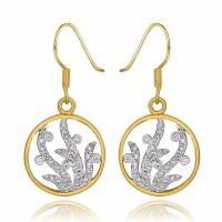 Tiaria Classic Drop Earrings & Hook LKN18KRGPE982-A Anting Lapis Emas