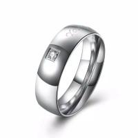 Tiaria Ring TGR128-G-7 Cincin Lapis Emas Zircon Gold Plated