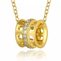 Tiaria Gold Plated Necklace Pendant Party KRGPN808-A Kalung Lapis Emas