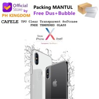 Cafele iPhone X - Transparent Clear Soft Case [Free Tempered Glass]