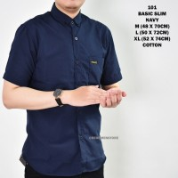 Kemeja Pria Lengan Pendek Polos / Baju Kasual Casual Cowo Cowok