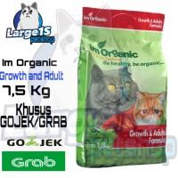 khusu gojek/grab Im Organic growth and adult 7,5kg makanan kucing Imo