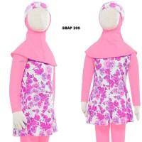 Baju Renang Anak Muslim Muslimah Ukuran 4 dan 5 Tahun Sulbi SBAP
