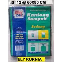 Klinpak Plastik Kantong Sampah Sedang 60x80 Cm isi 12