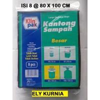 Klinpak Plastik Kantong Sampah Besar 80x100 Cm isi 8
