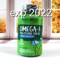 NATURELO Premium Omega 3 Fish Oil 1100 mg OMEGA3 60 Softgels