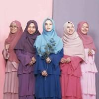 Hijab Alila - Gamis Ruffle - Warna Soft