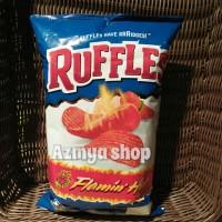 Ruffles Potato Chips Flamin Hot-keripik kentang rasa pedas 184,2gr
