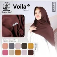 Hijab Jilbab Kerudung Segiempat Voila Polos Laser cat by Umama uk 110