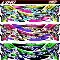 striping sticker decal yamaha fino terbaru
