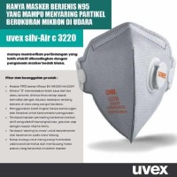 Masker N95 UVEX per pch / setara 3M / masker debu/ masker anti virus c