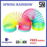 Mainan Anak Jadul Spring Rainbow Slinky Per Pegas Warna Warni Jumbo