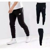 Celana Joger Jogger Pants Sweatpants New Balance premium Training Futs
