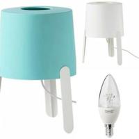 Paket lengkap IKEA TVARS E14 Bohlam LED 400lumenlampu meja1pc