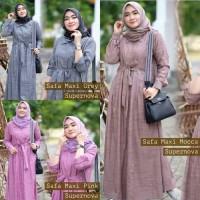 Baju Gamis Wanita | Long Dress Muslim | Baju Gamis Murah | Safa Maxi