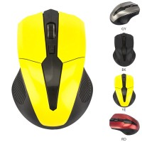 Terbaik Mouse Wireless 2.4G 4 Tombol 1600DPI untuk PC / Laptop
